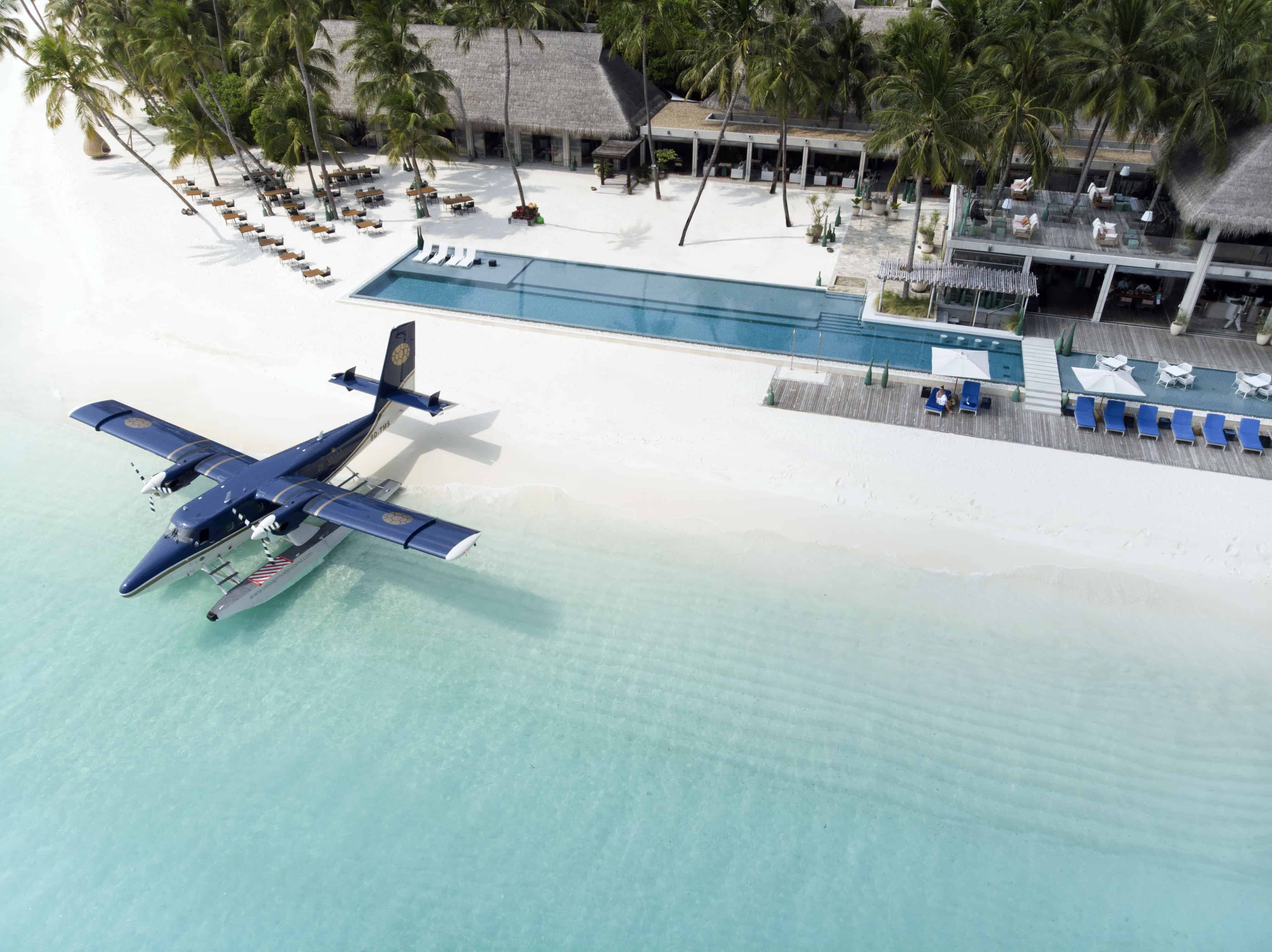 10 hotels with branded seaplane!